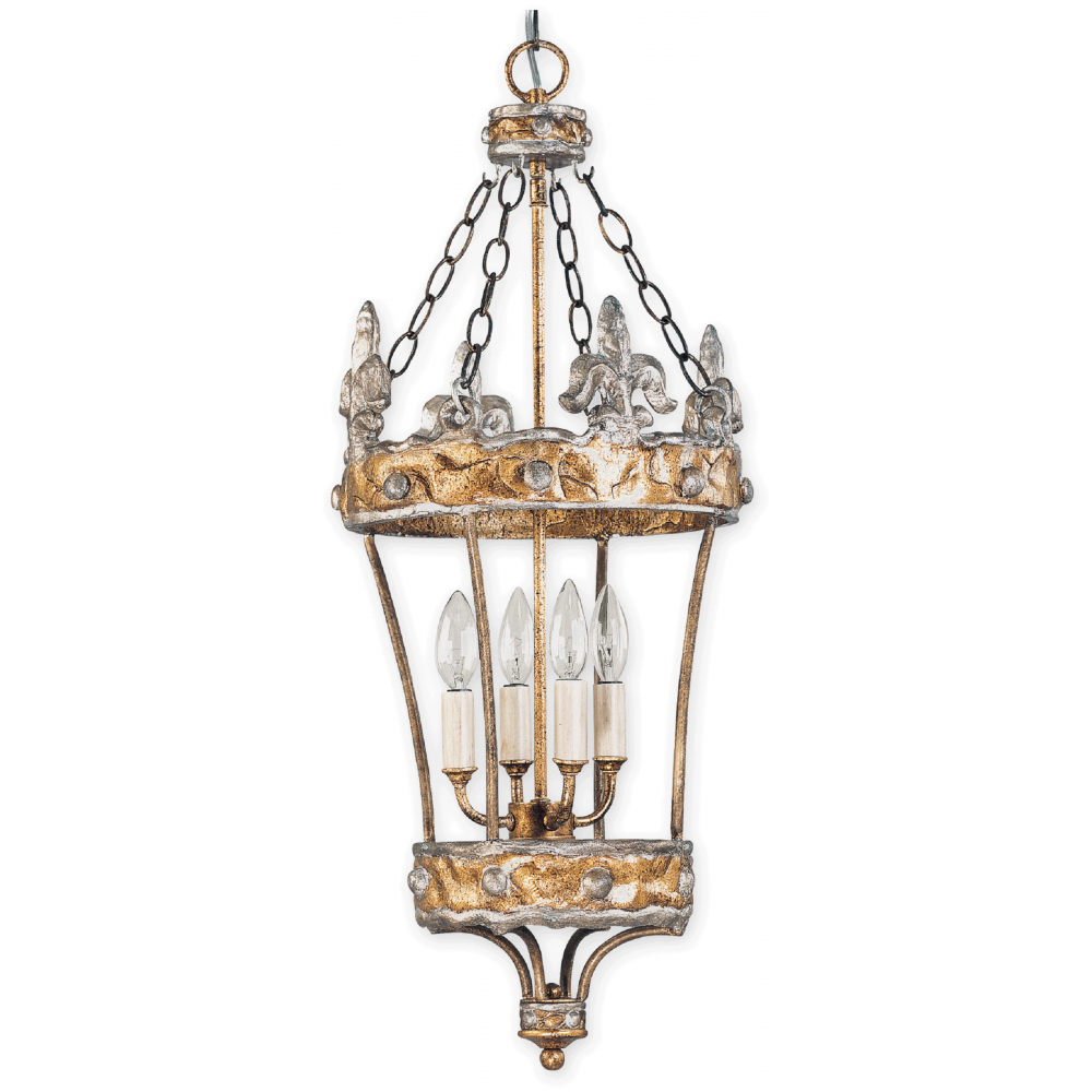 quirky vintage style hanging lantern in gold with silver. Black Bedroom Furniture Sets. Home Design Ideas