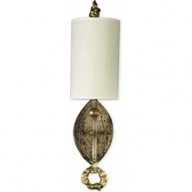 DUMAINE decorative gold leaf wall sconce