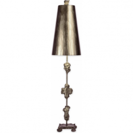 FRAGMENT aged silver designer table lamp
