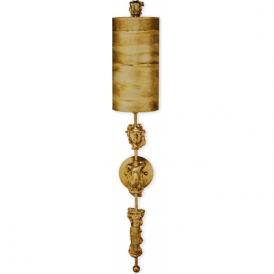 FRAGMENT burnished gold leaf wall sconce