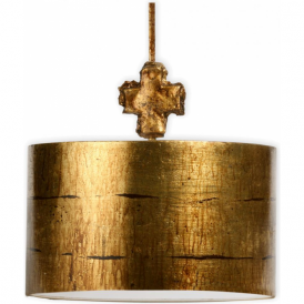 FRAGMENT gold hand leafed metal ceiling pendant light (medium)