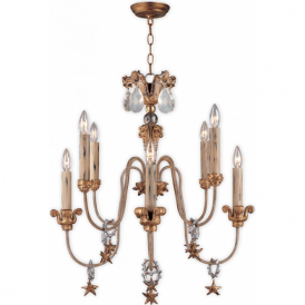 MIGNON decorative French inspired 8 light chandelier