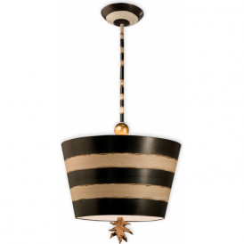 SOUTH BEACH quirky black and cream inverted ceiling pendant light