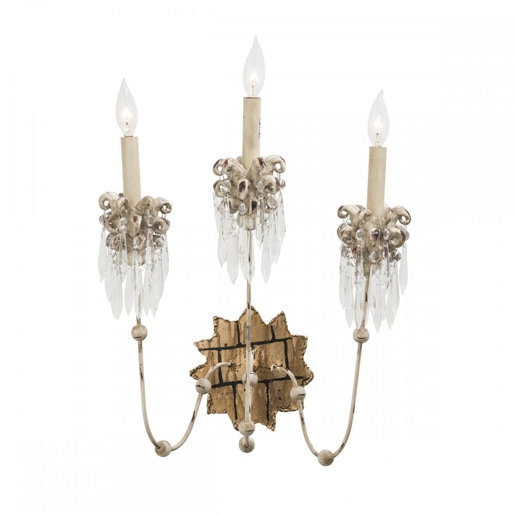 Shabby chic wall sconces Chandelier Candle Venetian Elegant Shabby Chic Light Wall Sconce With Crystal Clusters Bespoke Lights Light Shabby Chic Crystal Wall Sconce With Gold Crackle Fitting