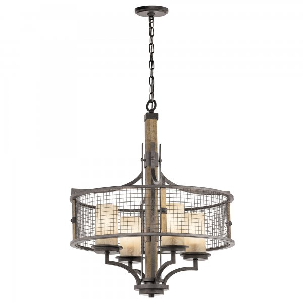 Rustic Lighting Company: Rustic Style Hanging Ceiling Pendant Light, Iron Mesh And