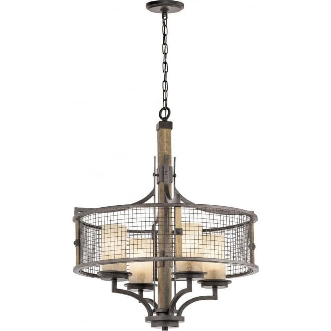 Rustic Style Hanging Ceiling Pendant Light, Iron Mesh And