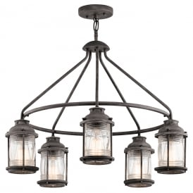 ASHLAND BAY colonial style 5 light chandelier for indoor or outdoor use