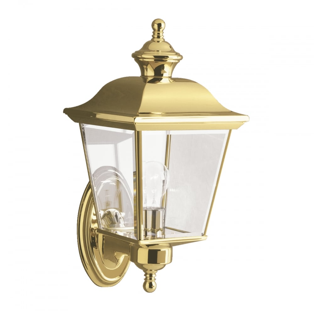 Wall Lights York: Traditional Outside Brass Carriage Lamp Wall Light With