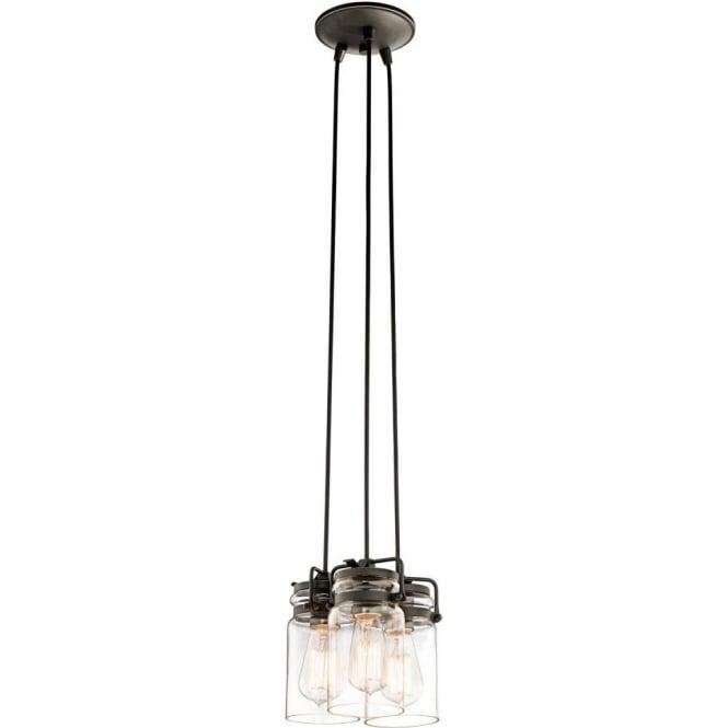 hanging cluster ceiling pendant light bronze fitting glass jar shades