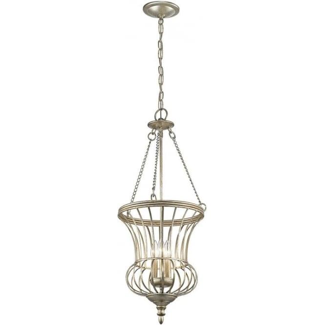 Calla Brazier Style Chain Lantern. Open Sterling Gold