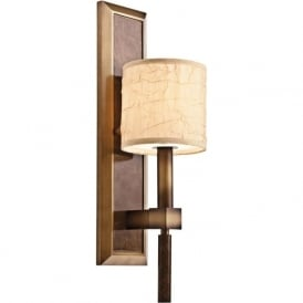 CELESTIAL traditional bronze wall light with fabric shade