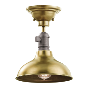 COBSON 3 in 1 - mini ceiling pendant, semi-flush ceiling light or wall light in natural brass