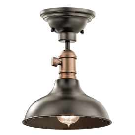 COBSON 3 in 1 - mini ceiling pendant, semi-flush ceiling light or wall light in old bronze