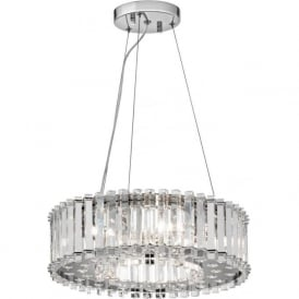 CRYSTAL SKYE hanging ceiling pendant light with crystal prism rods
