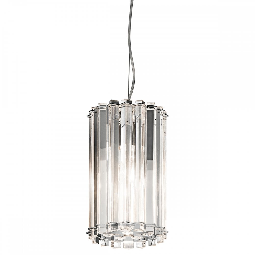 reputable site 69d25 a7632 CRYSTAL SKYE IP44 mini bathroom ceiling pendant with crystal prism rods