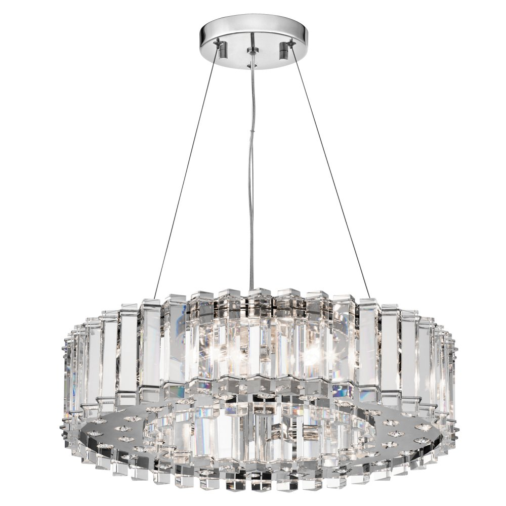 Contemporary Crystal Ceiling Pendant Light With Real