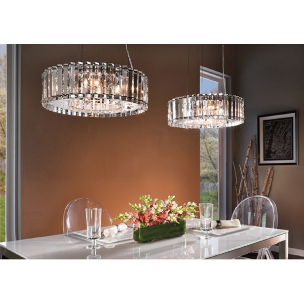 Modern Chandeliers Nyc: Contemporary Crystal Ceiling Pendant Light With Real