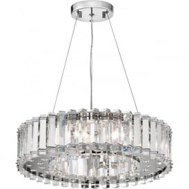 CRYSTAL SKYE large IP44 bathroom safe chandelier with crystal prism rods