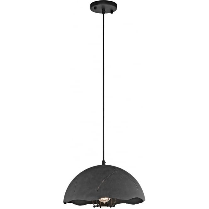 Dark Zinc Ceiling Pendant Light For Hanging Over Kitchen