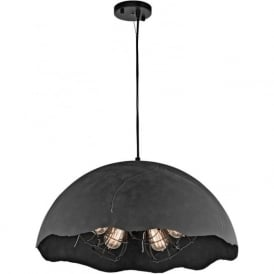 FRACTURE large 5 light ceiling pendant in dramatic dark zinc finish