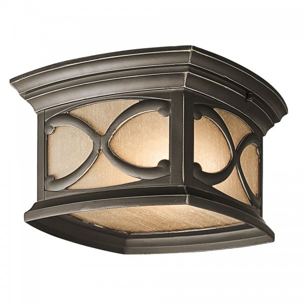 Porchlight New York: Tradional Gothic Style Flush Fitting Porch Ceiling Light