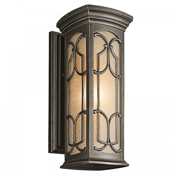 Wall Lights York: Franceasi Gothic Style Outdoor Wall Lantern, Bronze With