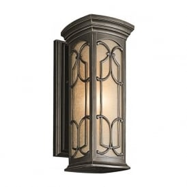 FRANCEASI outdoor garden wall lantern with Gothic detailing - medium