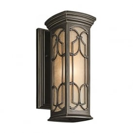 FRANCEASI outdoor garden wall lantern with Gothic detailing - small