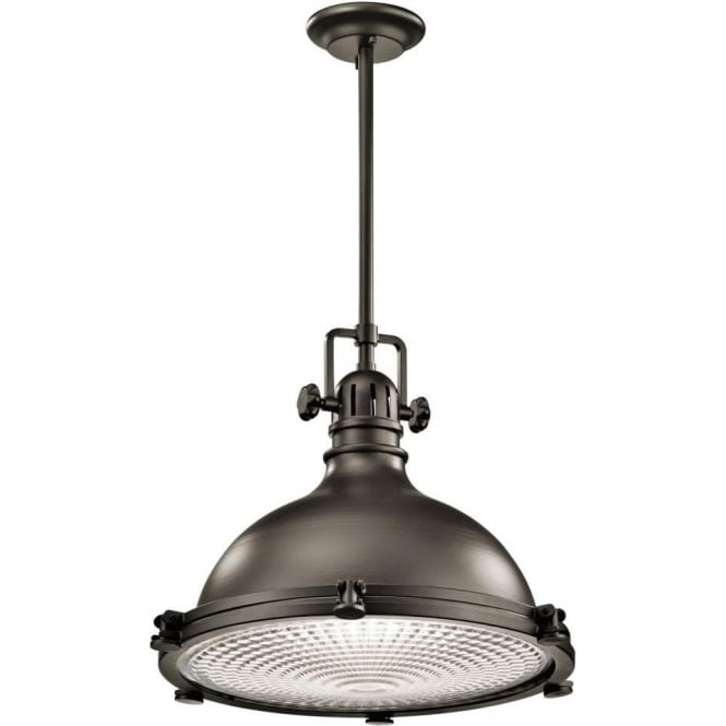 Industiral Bronze Ceiling Pendant Light With Prismatic