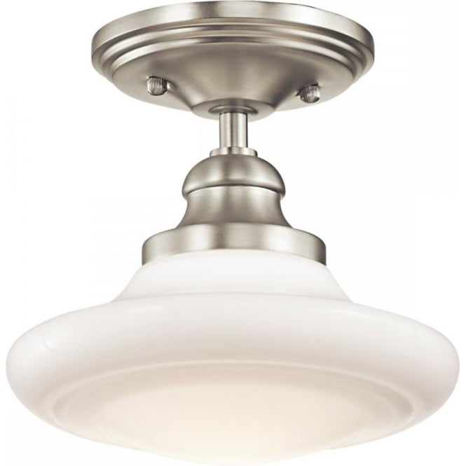 Schoolhouse ceiling light fittings in choice of finishes vintage look keller school house dual mount ceiling light pendant or semi flush fitting aloadofball