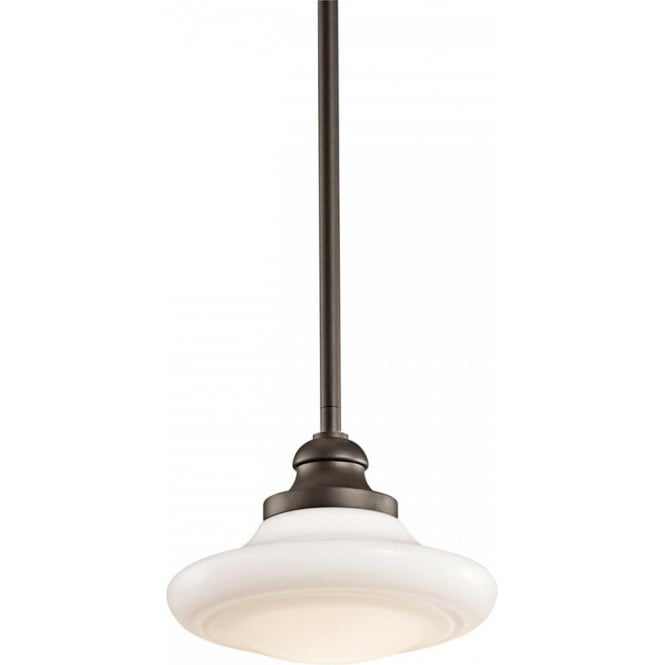 Keller dual mount schoolhouse ceiling pendant light fitting bronze keller school house dual mount ceiling light pendant or semi flush fitting aloadofball Image collections