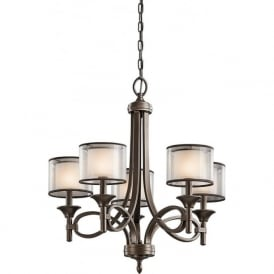 LACEY 5 light traditional bronze chandelier