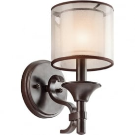 LACEY traditional bronze wall light