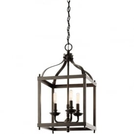 LARKIN traditional bronze hall lantern - medium