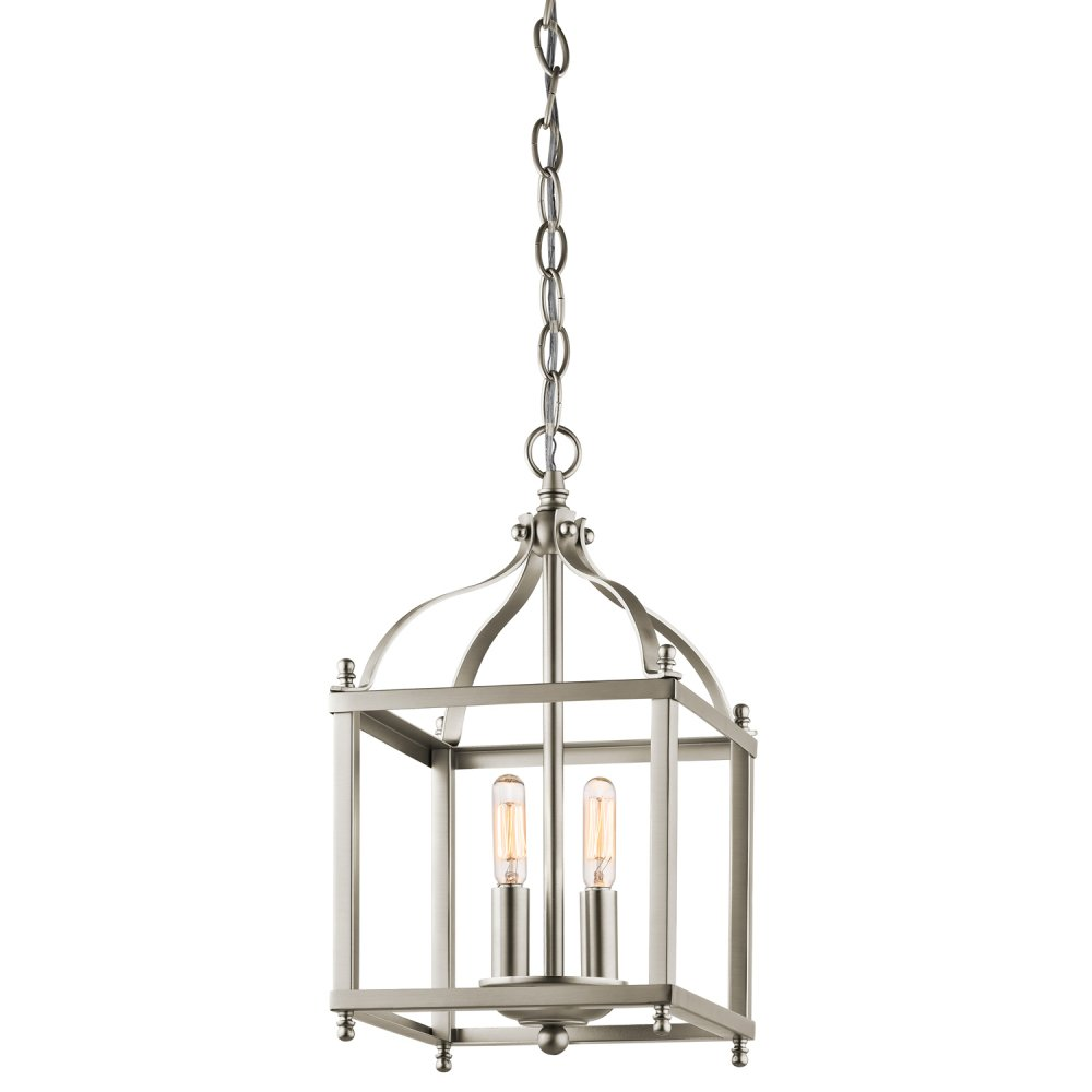 Nickel Classic Style Hanging Entrance Hall Lantern With