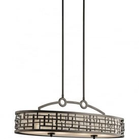 LOOM Art Deco over table or kitchen island bar pendant light