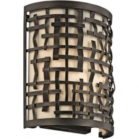 LOOM flush fitting Art Deco wall light