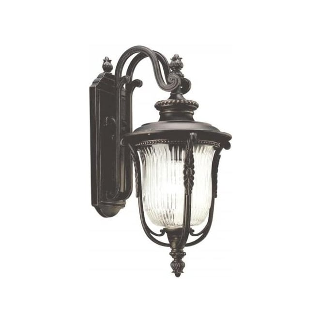 Traditional Garden Wall Lights : Traditional Bronze IP44 Exterior Wall Light with Period Detailing