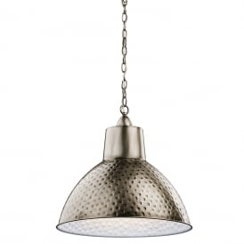 MISSOULA ceiling pendant with hammered antique pewter shade - medium