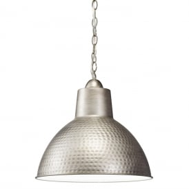 MISSOULA ceiling pendant with hammered antique pewter shade - small
