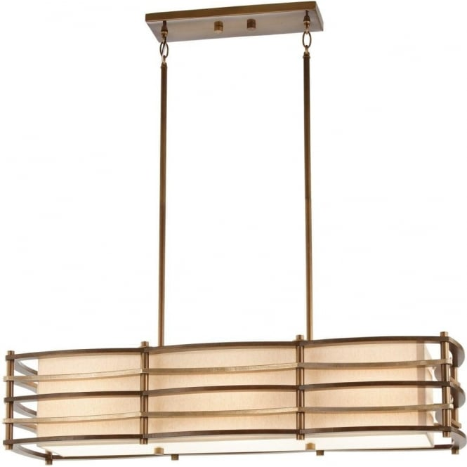 island bar suspension pendant ceiling light art deco with bronze bars. Black Bedroom Furniture Sets. Home Design Ideas