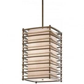 MOXIE bronze hanging pendant light in Deco styling