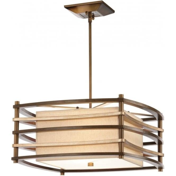 Moxie deco style rectangular ceiling pendant light