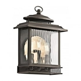 PETTIFORD vintage bronze outdoor wall lantern - large