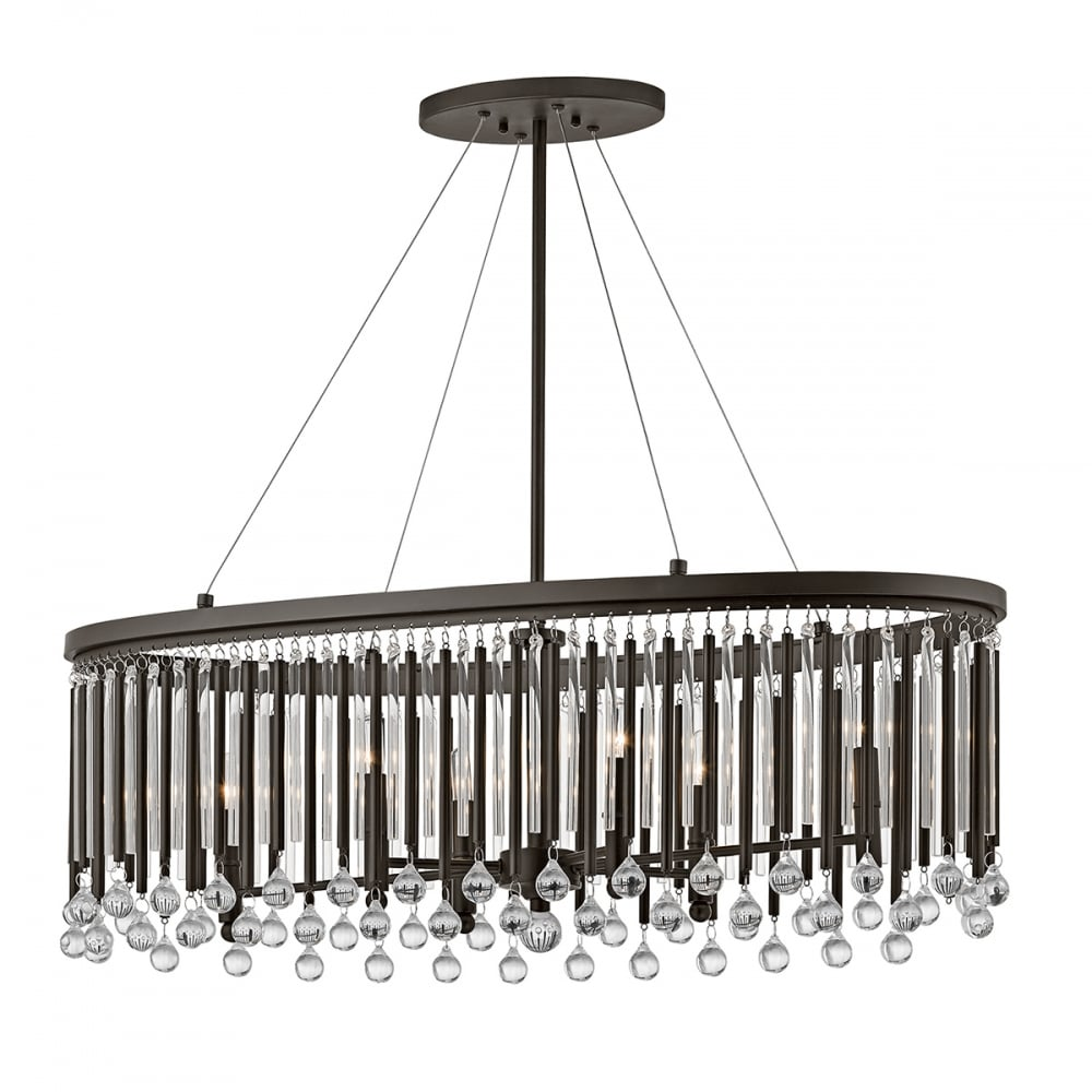 Modern Chandeliers Nyc: Modern Over Dining Table Island Chandelier With Glass