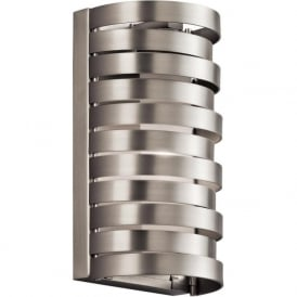 ROSWELL flush fitting indoor wall light in nickel finish