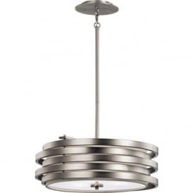 ROSWELL modern brushed nickel hanging ceiling pendant light