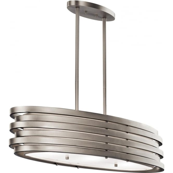 Modern oval kitchen island pendant or over dining table light for Over dining table pendant lights