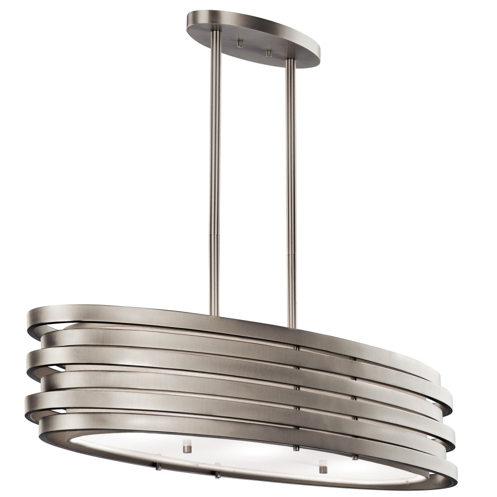 Modern oval kitchen island pendant or over dining table light for Bar fixtures