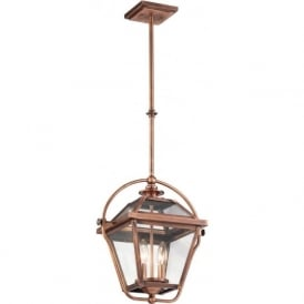 RYEGATE traditional Victorian style indoor lantern - antique copper